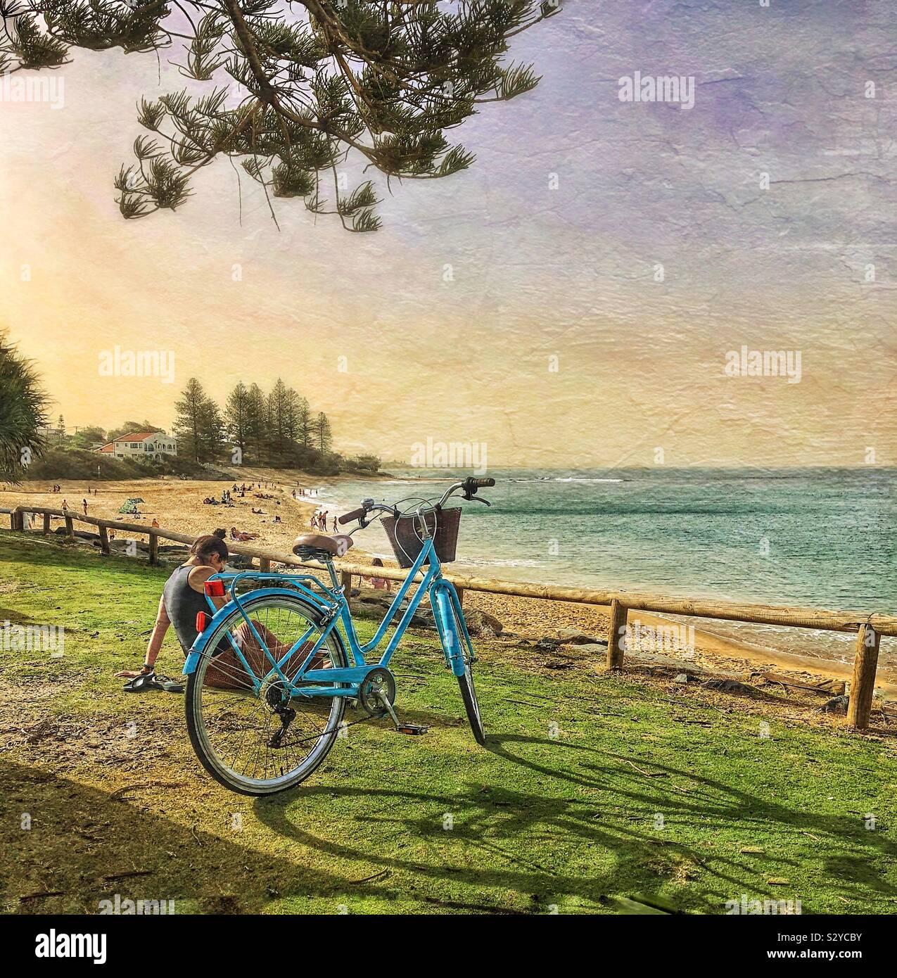 Relajación el estilo de vida australiano Foto de stock