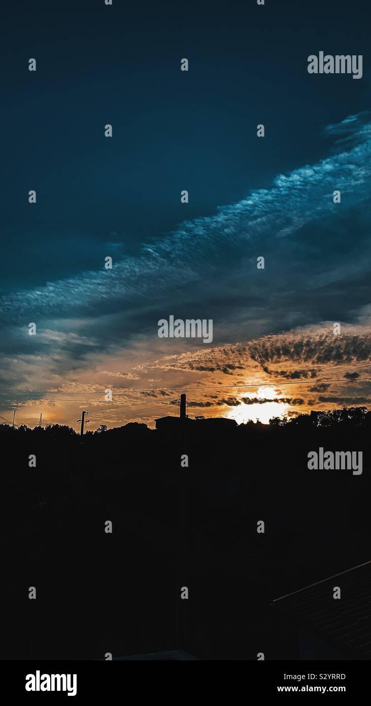 Puesta de sol Foto de stock