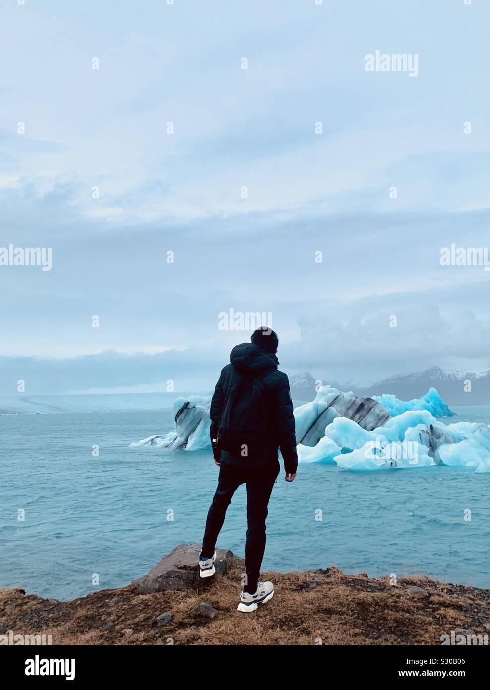 El hielo natural que no está creado por el humano Foto de stock