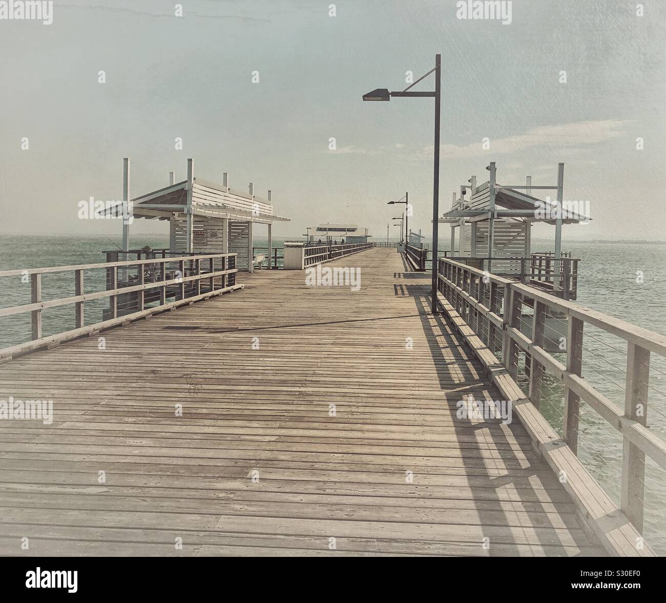 Punto de Woody Jetty Moreton Bay Queensland Australian Foto de stock