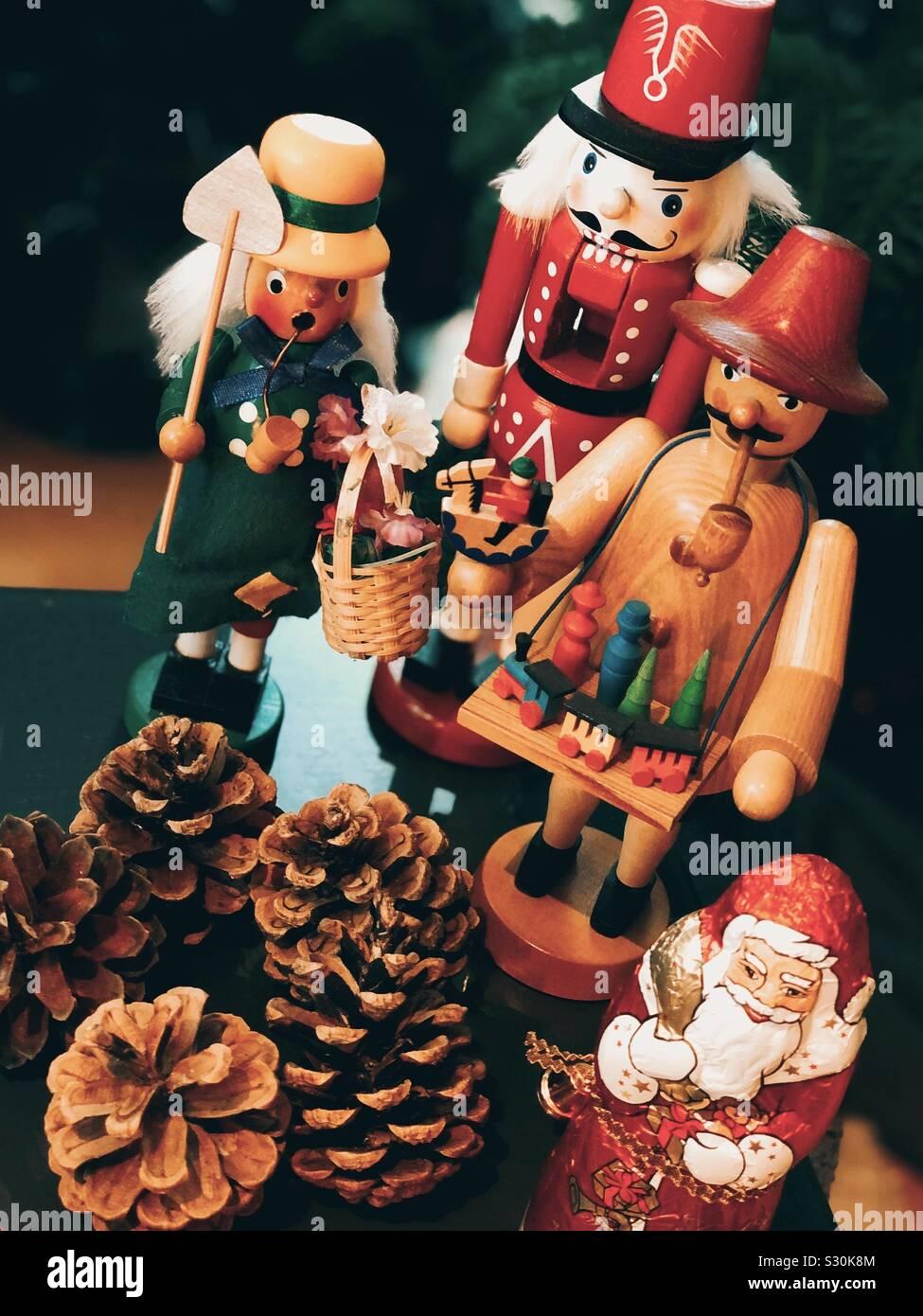 Home decoraciones de Navidad Foto de stock