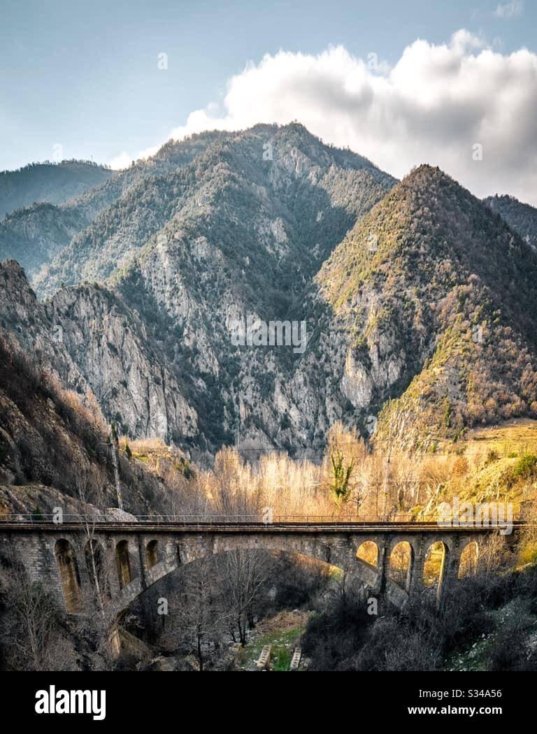Кресненското дефиле - местност в България! Foto de stock