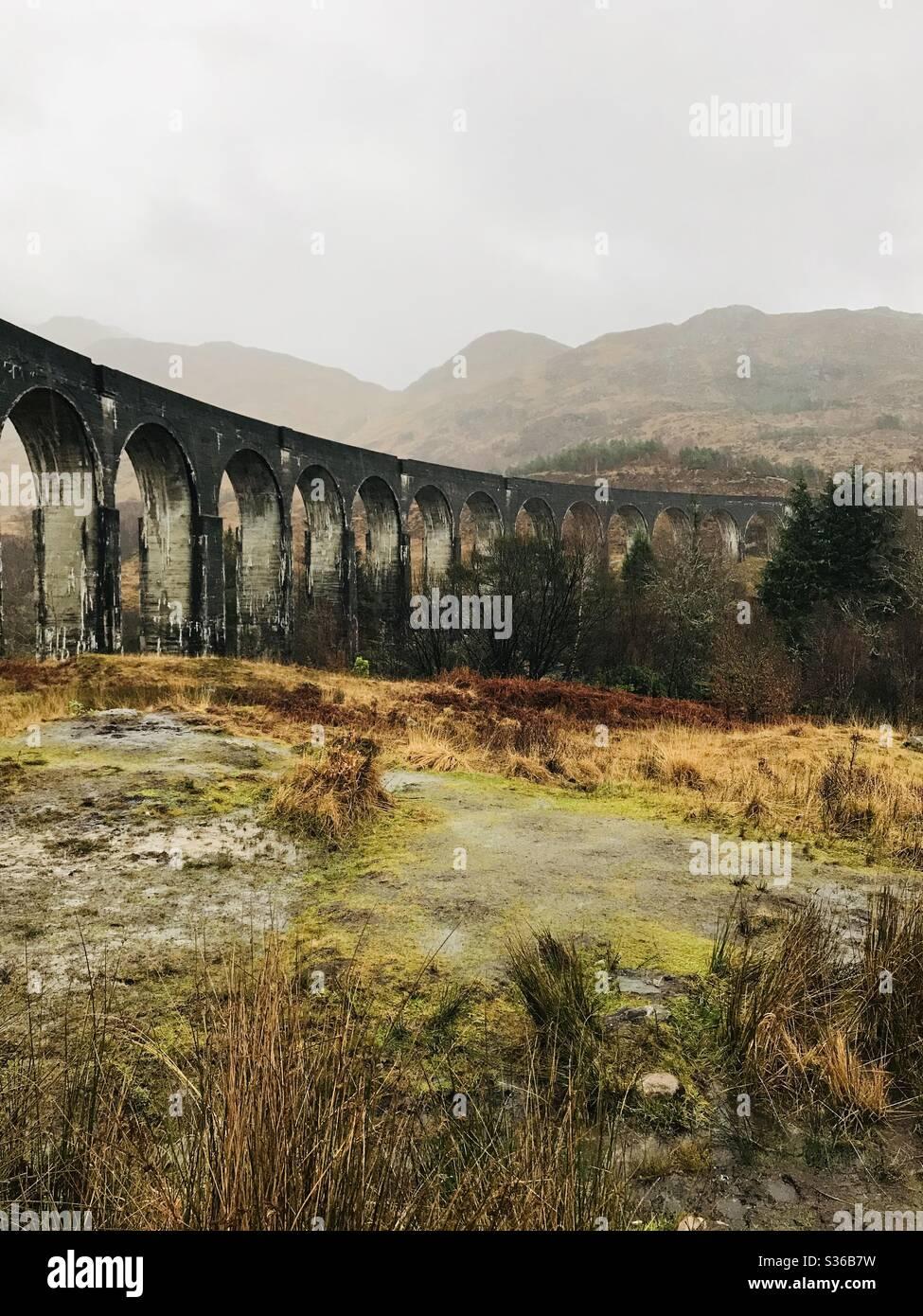 Glenfinnan, 'la ruta a Hogwarts.' Foto de stock