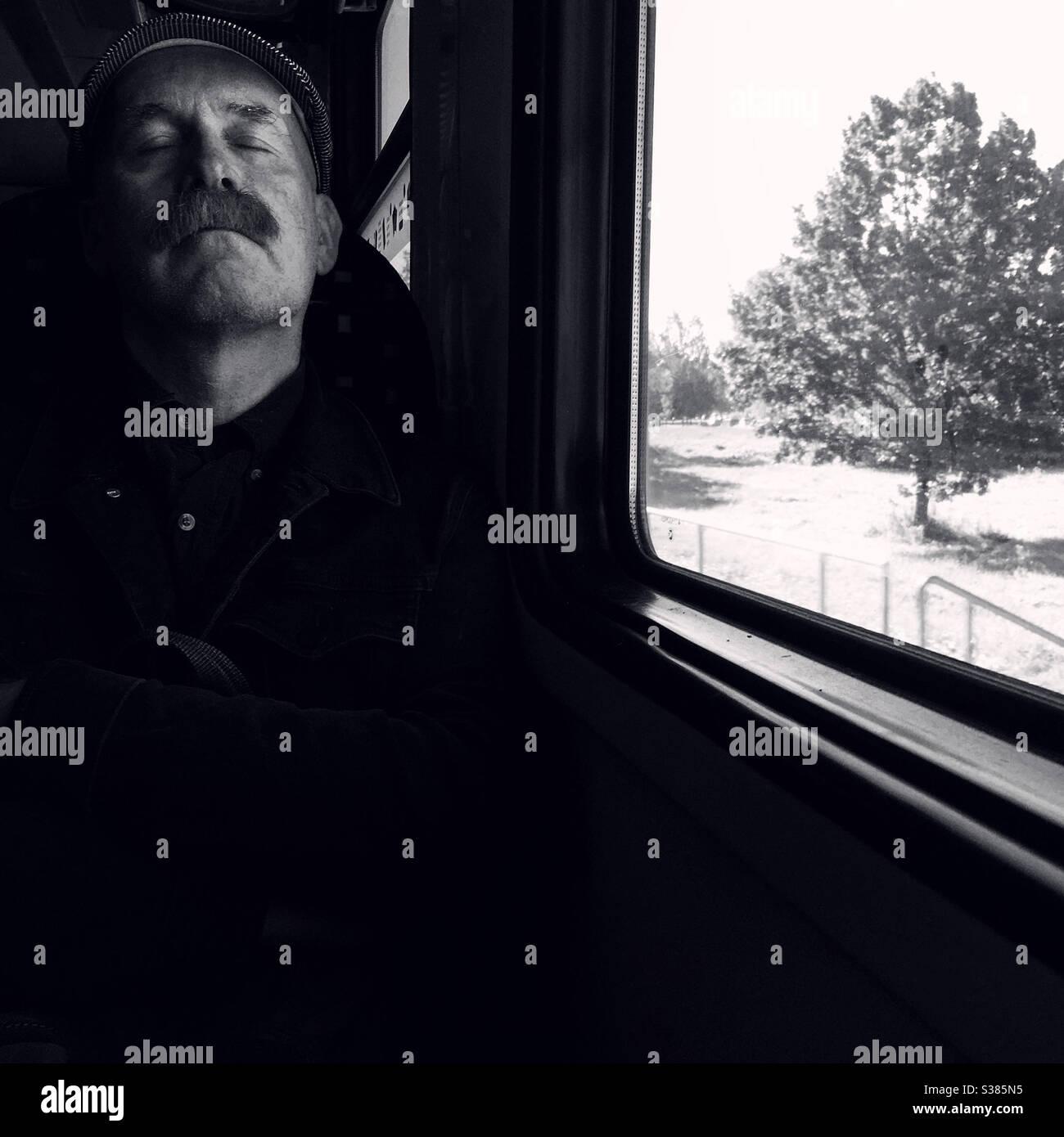 Pasajeros de tren Foto de stock