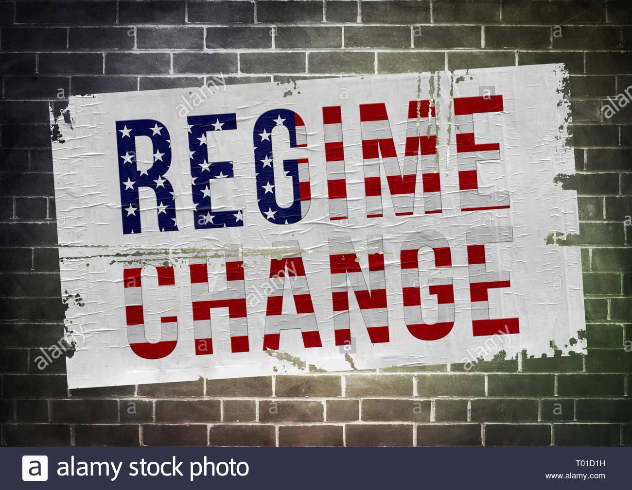 El cambio de régimen - la política americana Imagen De Stock