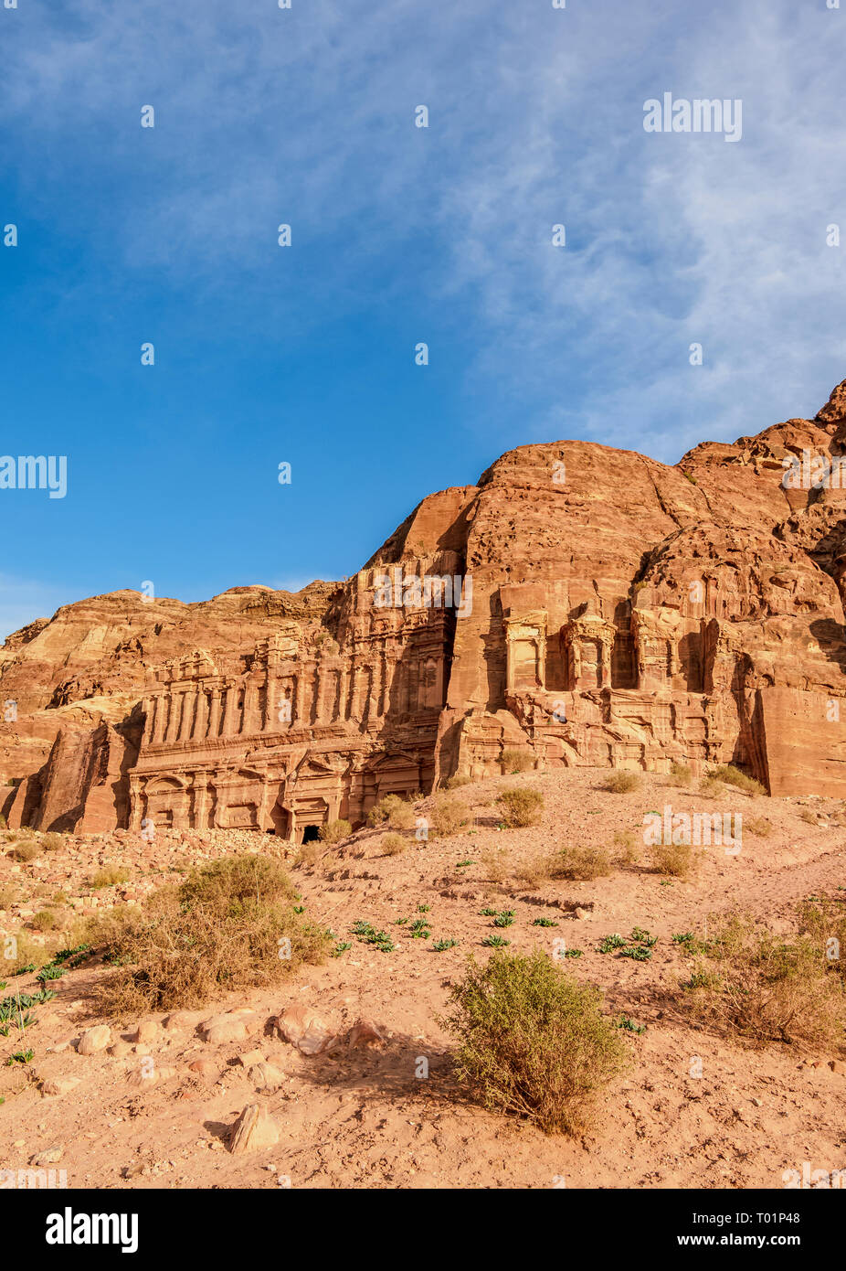 Tumbas Reales, Petra, la Gobernación de Ma'an, Jordania Foto de stock