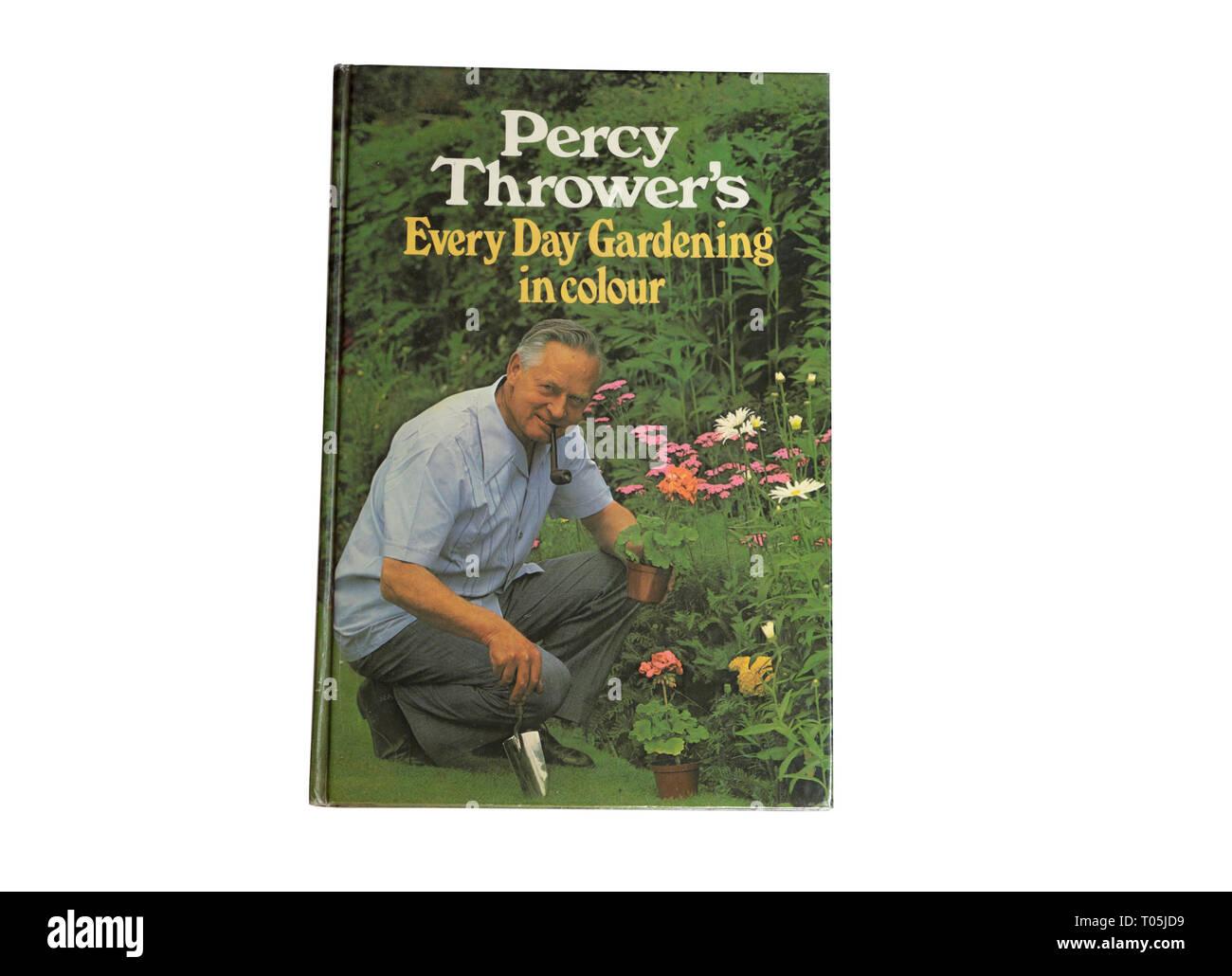 Percy Thrower's Book - cada día la jardinería Imagen De Stock