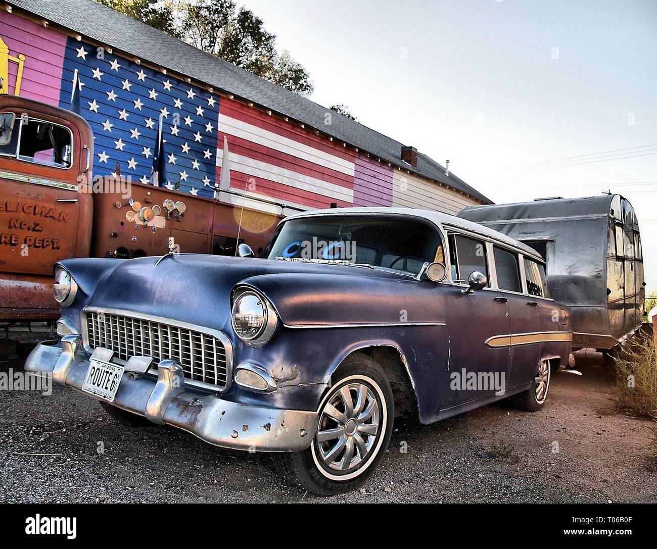 Route 66 automóviles Imagen De Stock