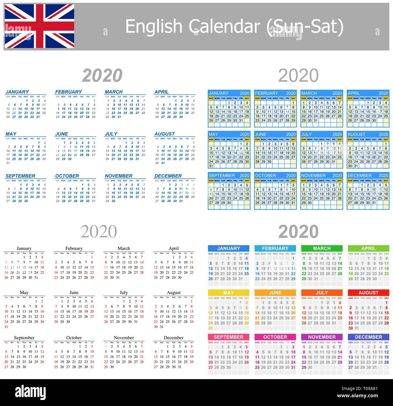 Calendario Islamico 2020.Calendar English Imagenes De Stock Calendar English Fotos De Stock