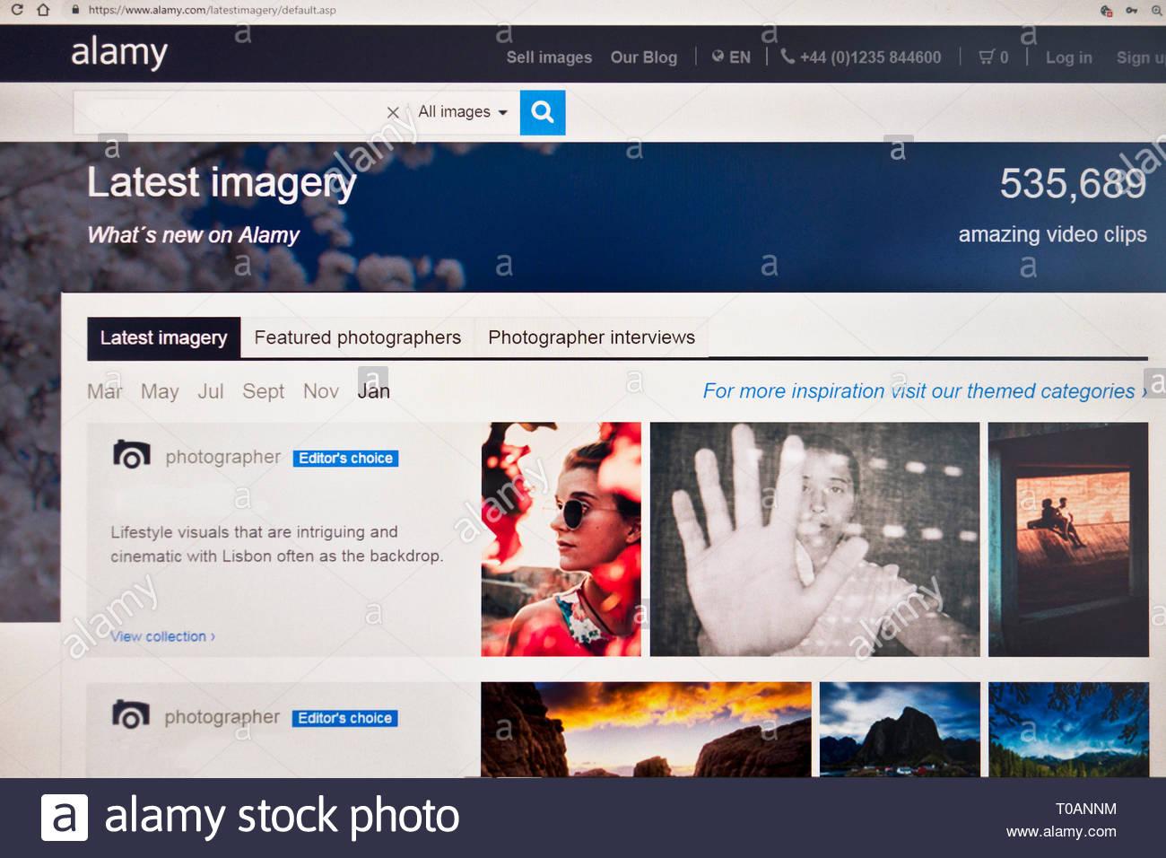 Alamy página principal Imagen De Stock