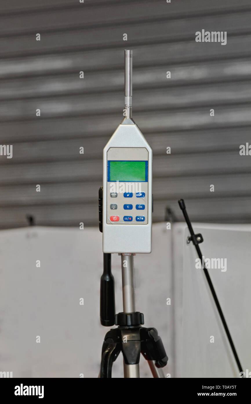 Medidor de nivel de sonido y contaminación acústica Analyzer Imagen De Stock