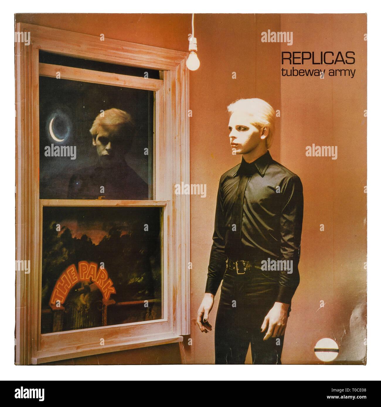 El album de vinilo manga para réplicas por Tubeway Army y Gary Numan Foto de stock