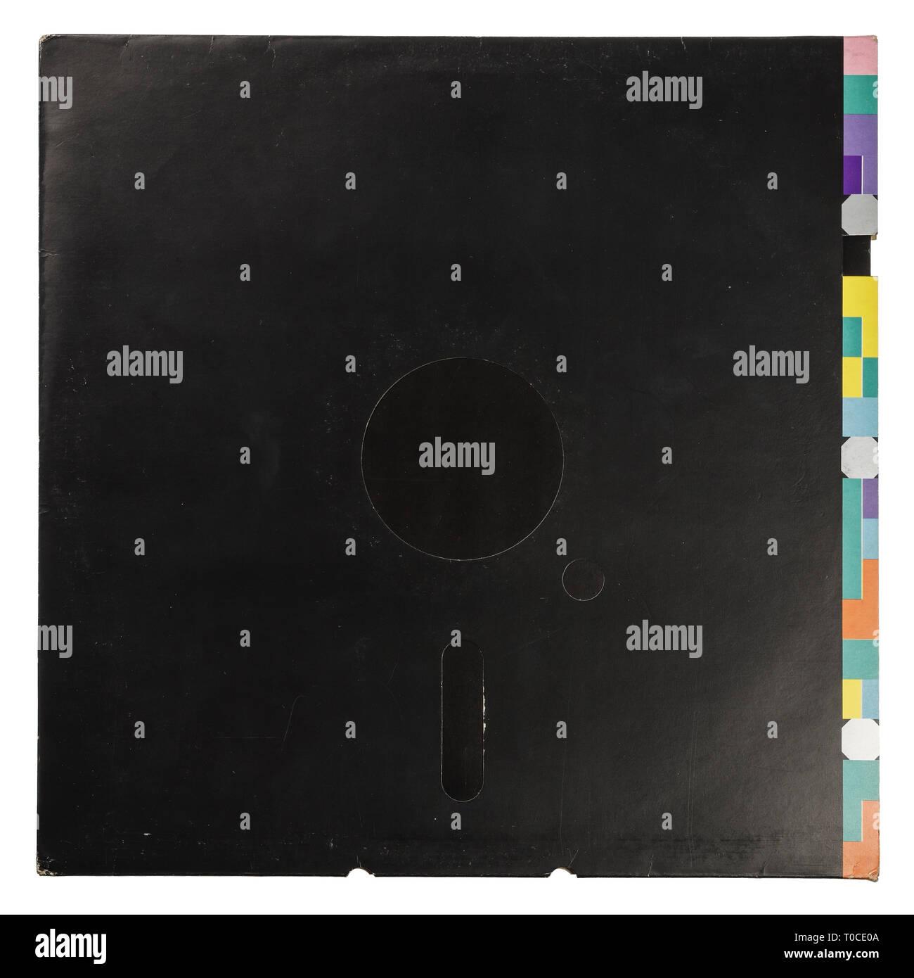 Un original de vinilo de 12 pulgadas para el Azul de manguito único el lunes por el nuevo orden Foto de stock