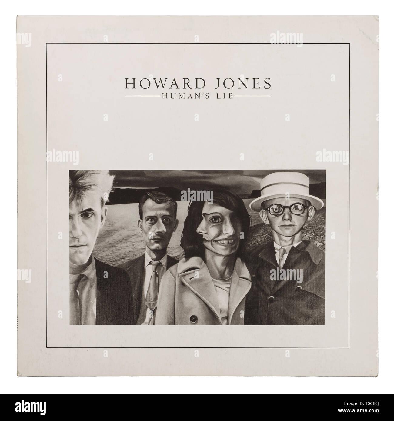 El album de vinilo manga para los seres humanos Lib por Howard Jones Foto de stock