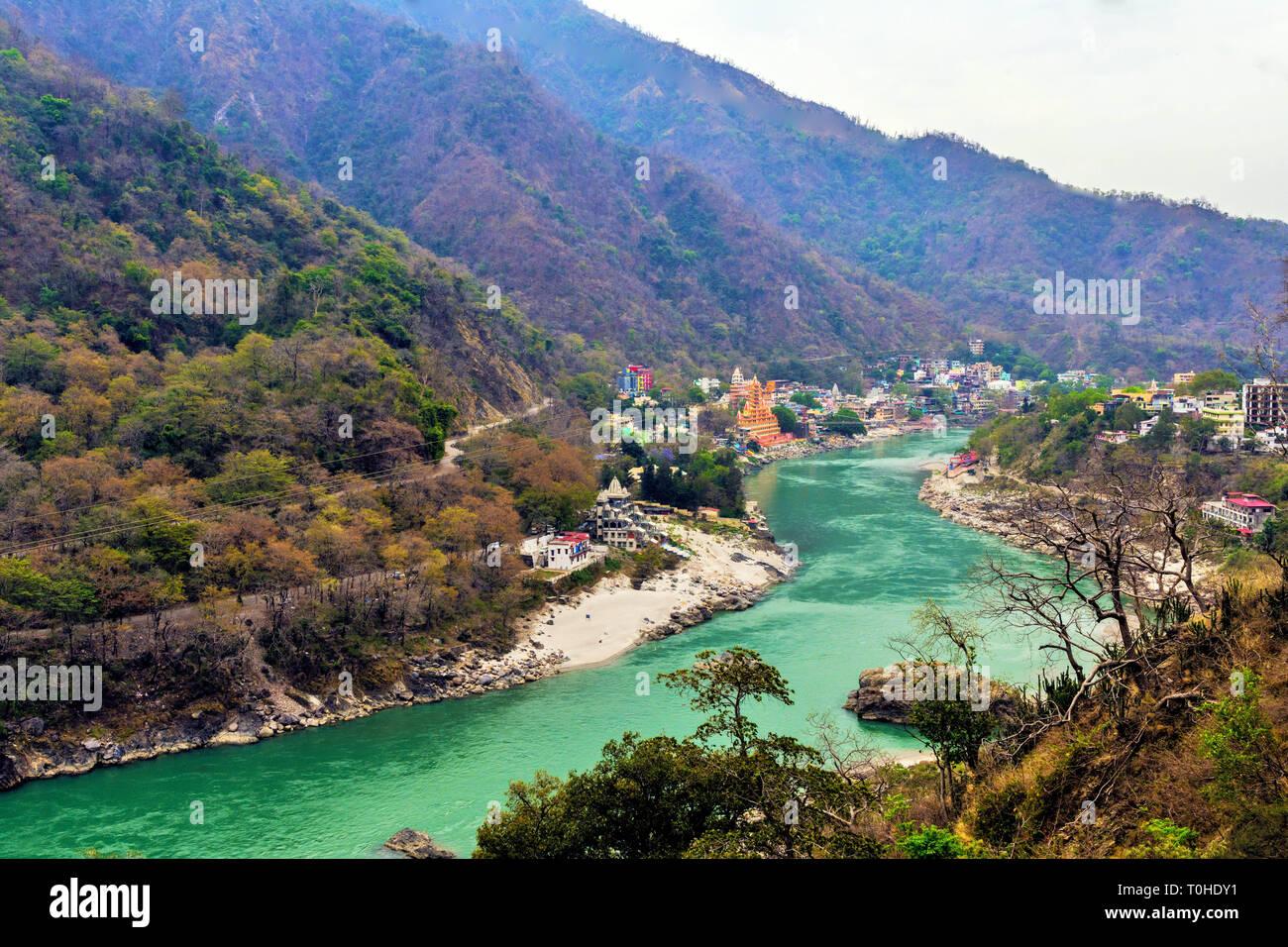 El río Ganga, Rishikesh, Uttarakhand, India, Asia Imagen De Stock