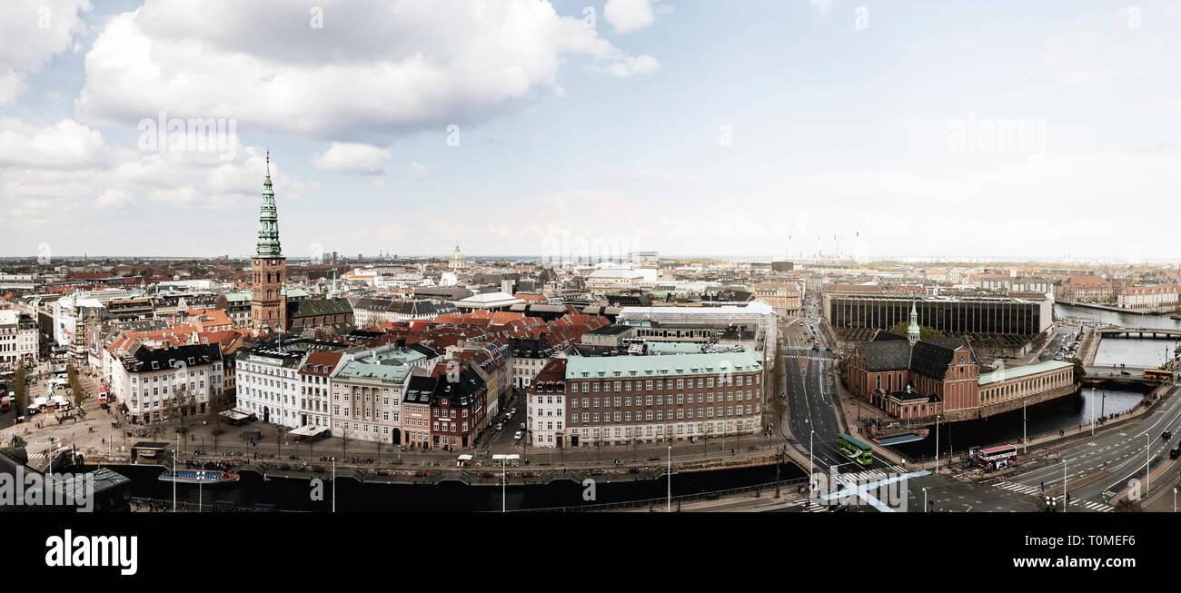 Vista de Copenhague, Dinamarca Foto de stock