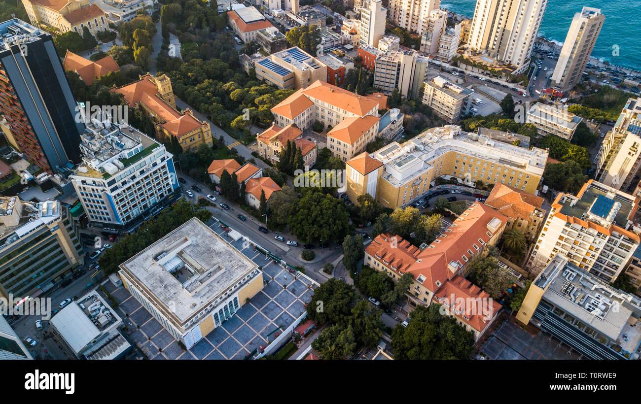 La Universidad Americana de Beirut, AUB, Beirut, Líbano Imagen De Stock