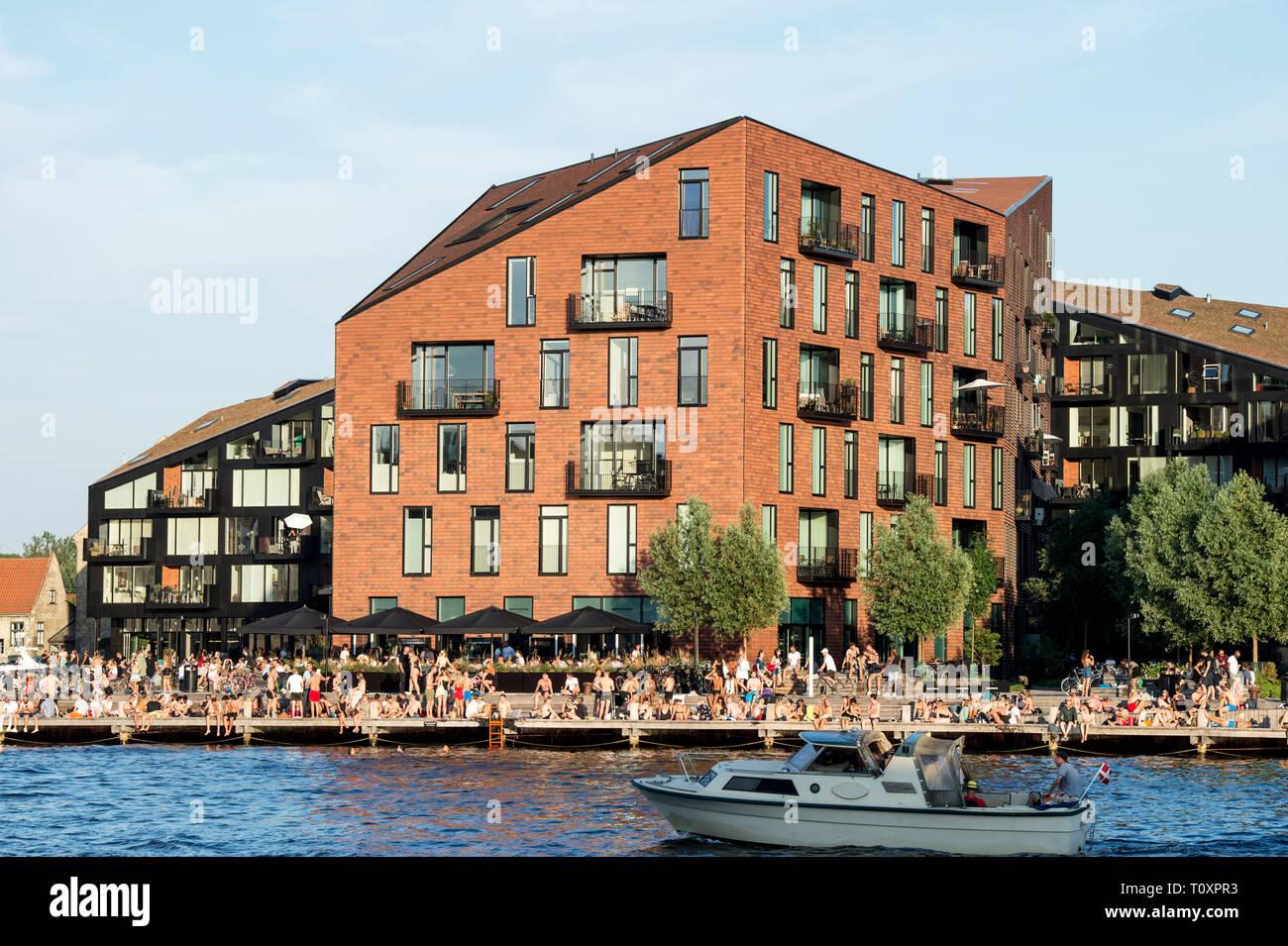 Dinamarca, Copenaghen, Kroyers Plads Foto de stock