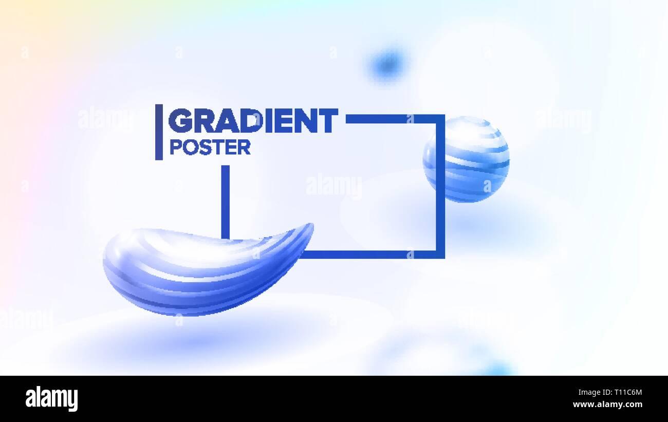 Líquido líquido Resumen Antecedentes Vector. La forma curva del minimalismo. Decoración suave. Impresión borrosa. Ilustración realista en 3D. Imagen De Stock