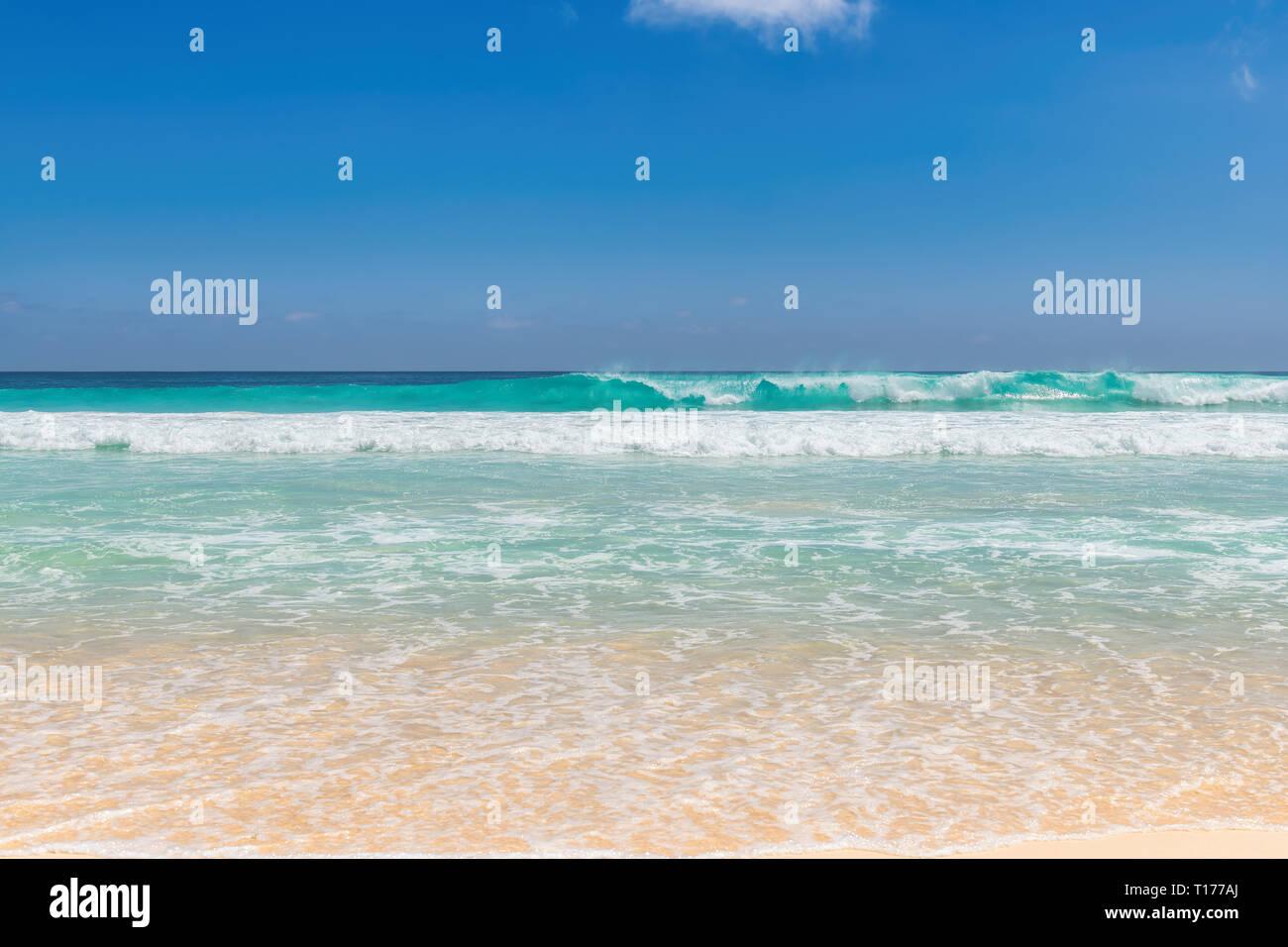 Hermosa playa en Paradise Island. Foto de stock