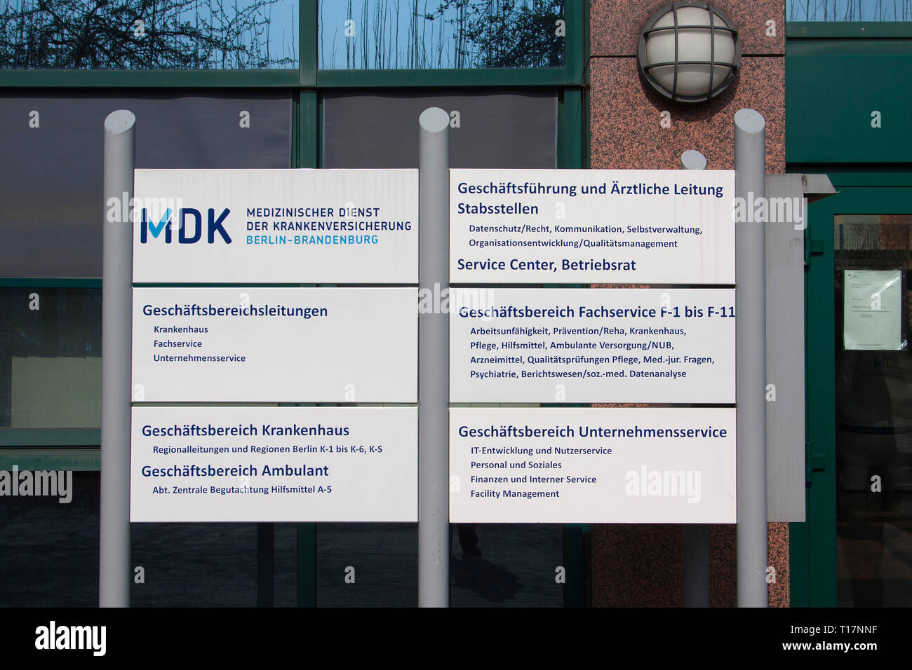 Servicio Médico del Seguro de Salud (MDK), Berlín, Alemania Imagen De Stock