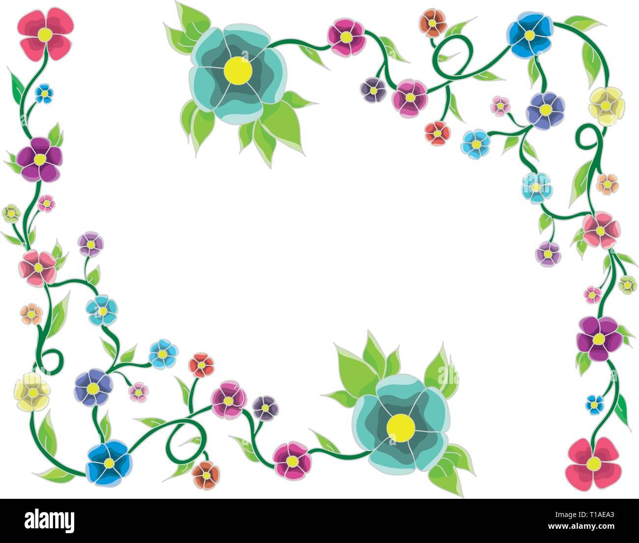 marco de flores Ilustración del Vector