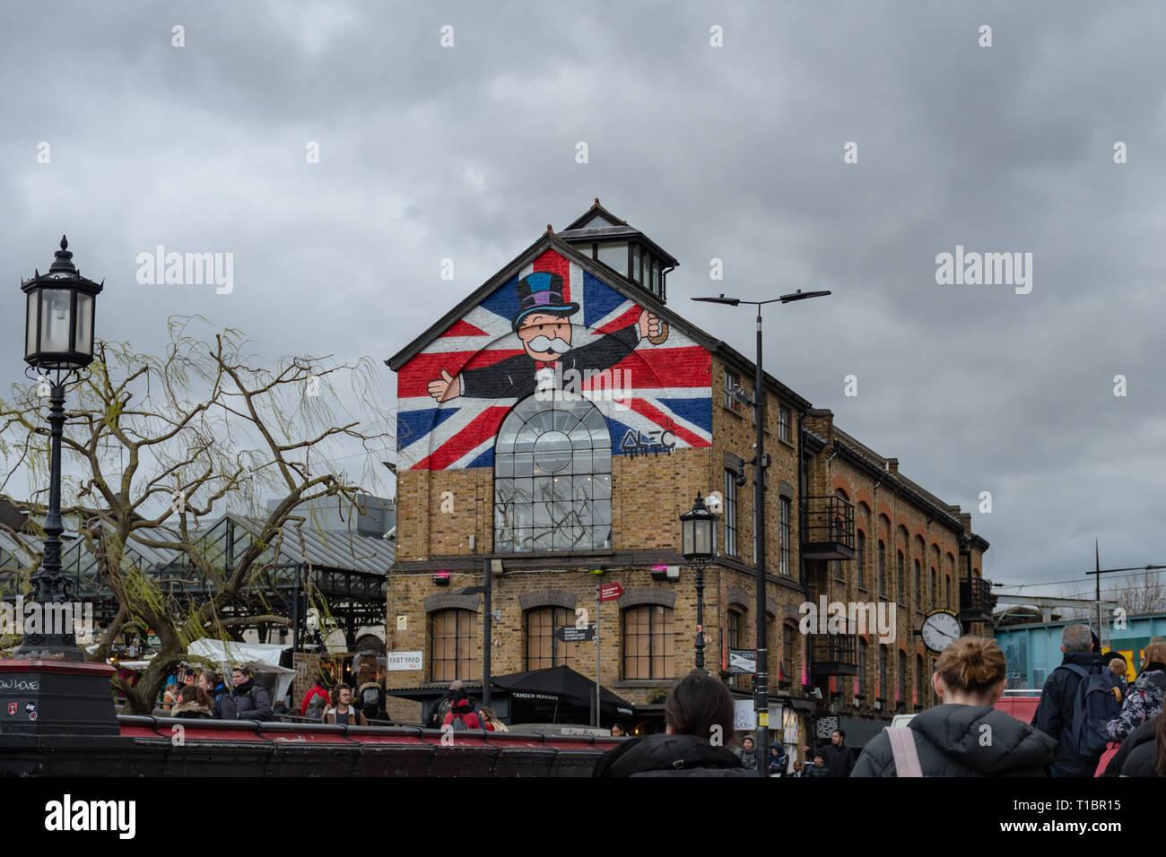 Un día en la ciudad de Camden - ONU giorno a Camden Town Imagen De Stock