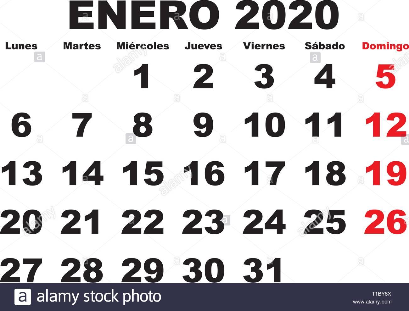 Imprimir Calendario 2020 Por Meses.Vector De Calendario 2020 Vectores Imagenes De Stock Vector De