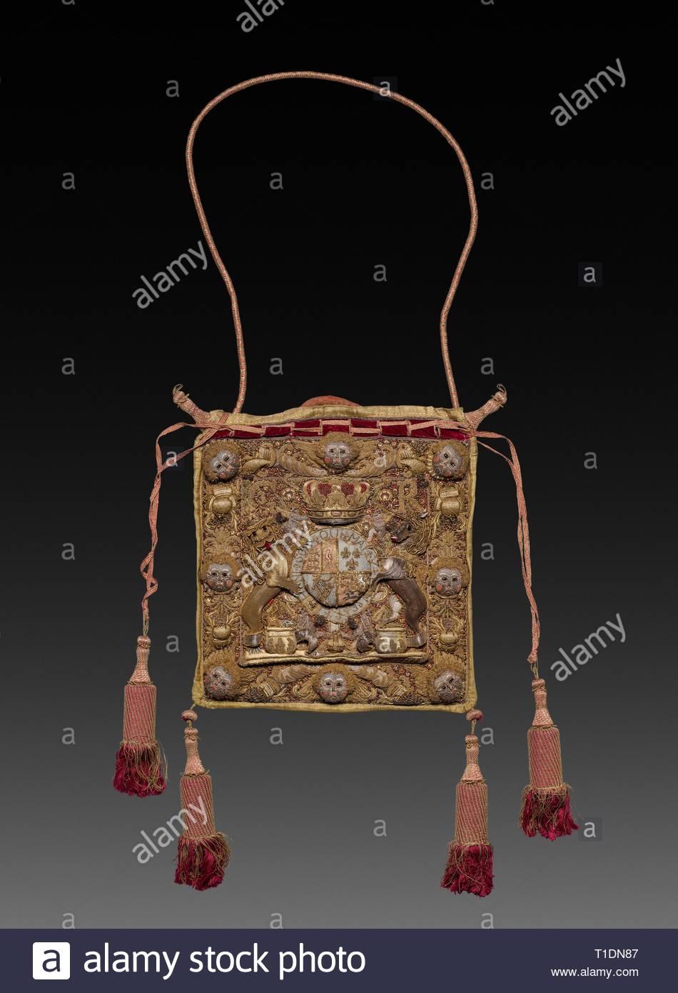 4e2507b15c Lord Chancellor s Burse (bolso) con Royal Cypher y Escudo de George III