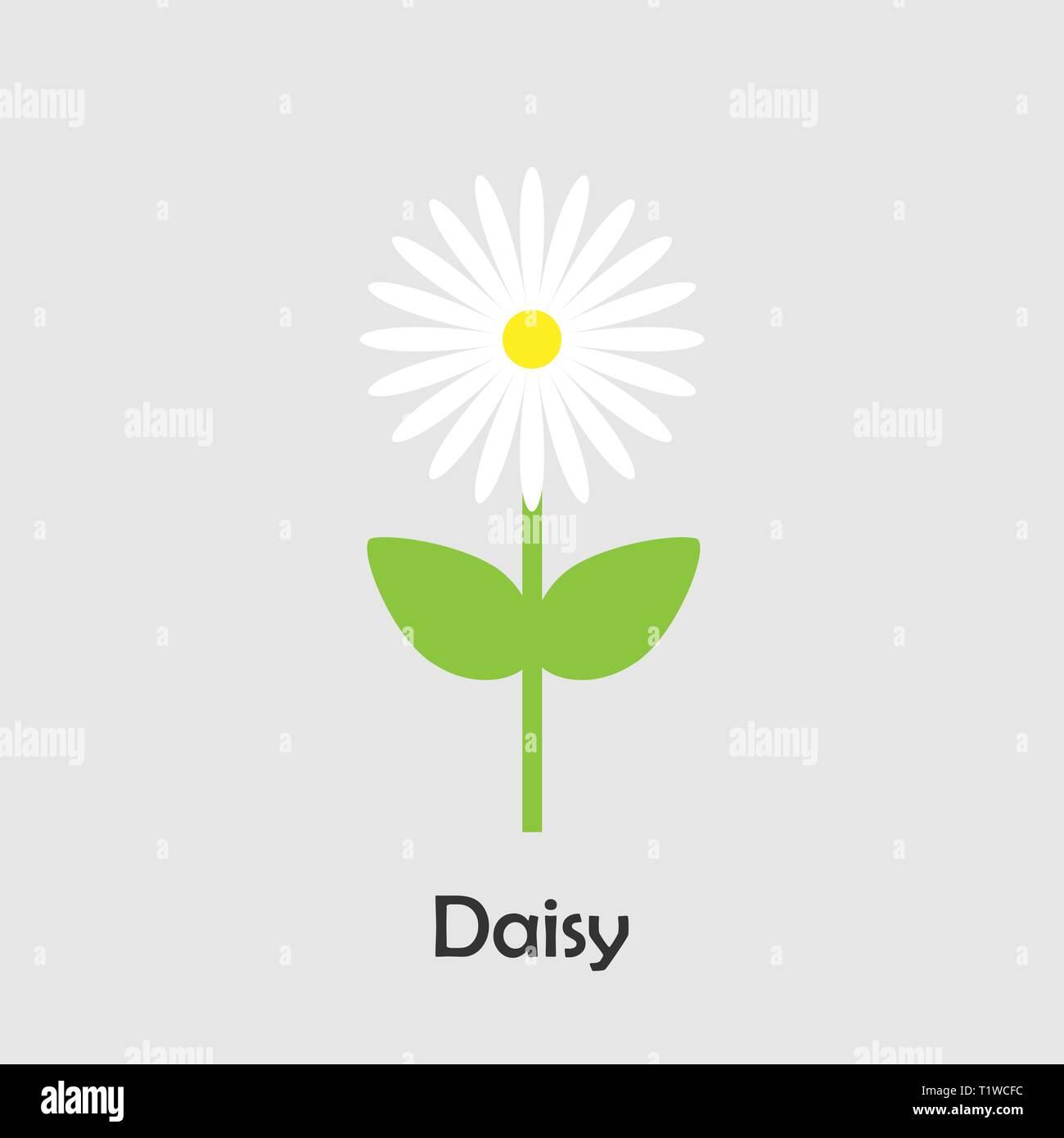 Daisy En El Estilo De Dibujos Animados Tarjeta De Primavera Para