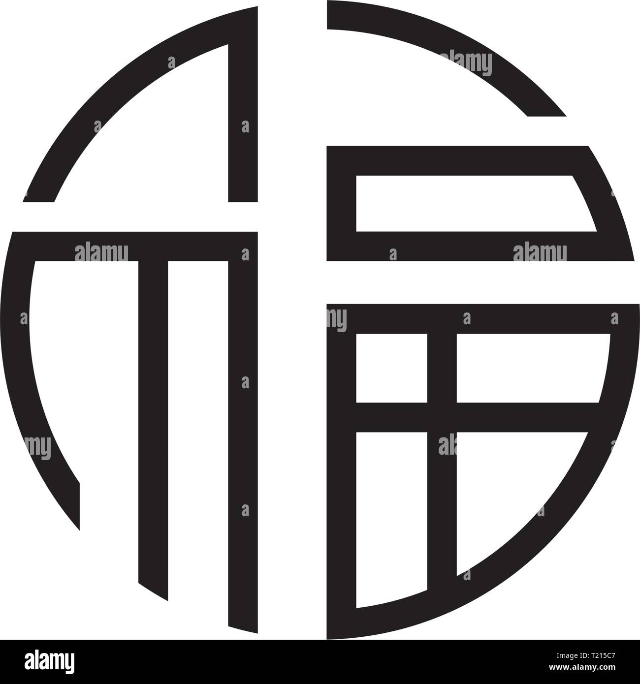 Signo De Feng Shui China Firman Buena Suerte Buena Suerte Imagen Vector De Stock Alamy