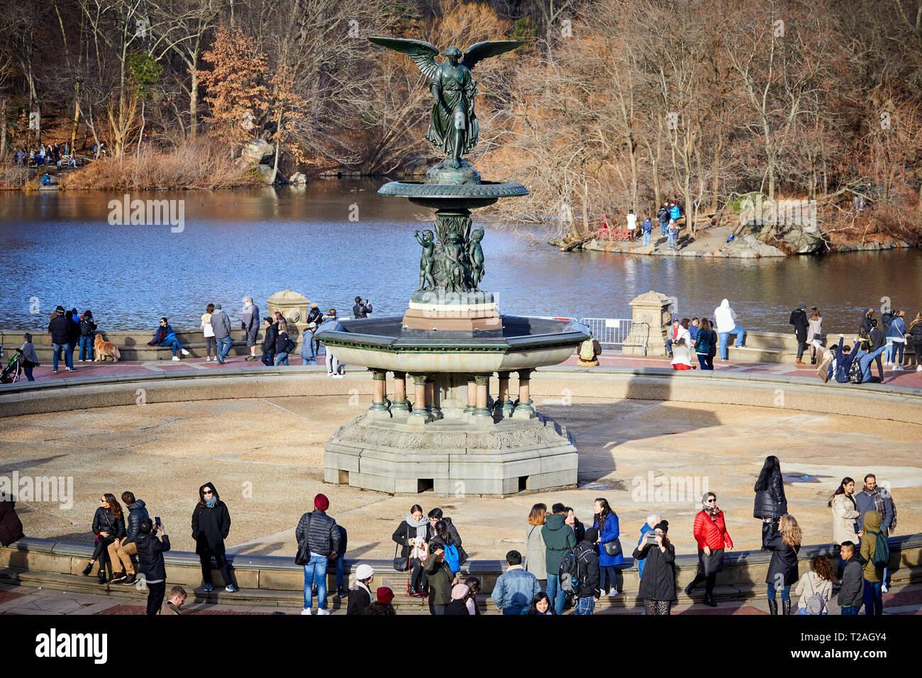 Nueva York Manhattan Central Park Bethesda Terraza Y Fuente