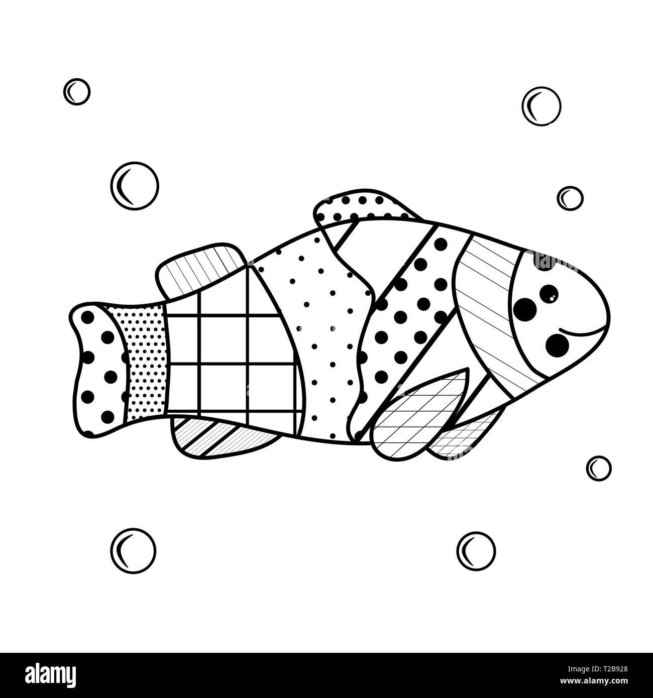 Los Habitantes Del Mar Libro Para Colorear Para Los Niños Y Adultos