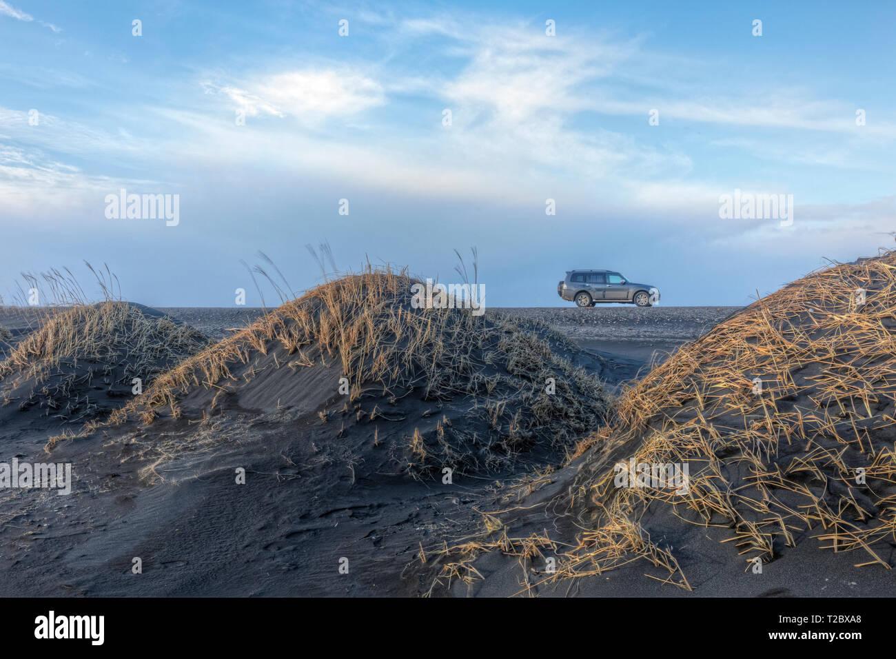 Road Trip Stokksnes, Hornafjordur, Hofn, al sur de Islandia, Islandia, Europa Imagen De Stock
