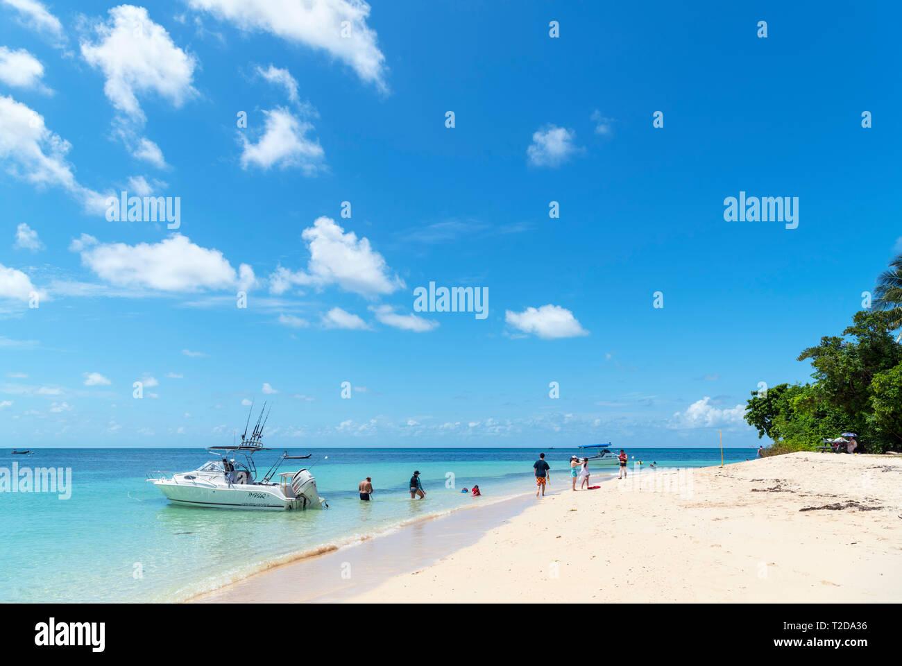 La Gran Barrera de Coral de Australia. Playa de Isla Verde, un coral cay en el Parque Marino de la Gran Barrera de Coral, Queensland, Australia Foto de stock