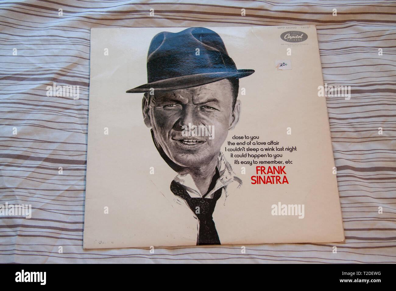 Frank Sinatra con Nelson Riddle Capitol álbum Foto de stock