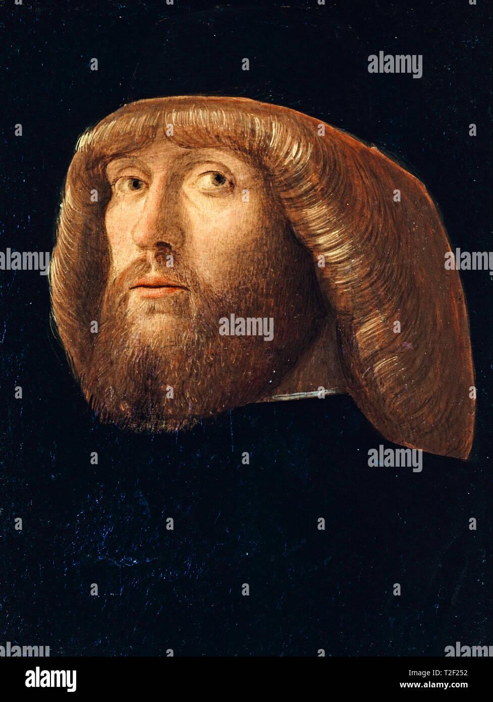 Giovanni Bellini, un hombre barbado, pintura, 1485 Foto de stock