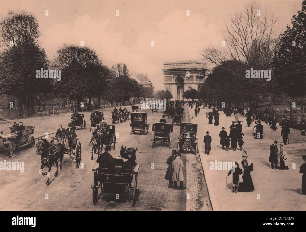 La avenida du Bois de Boulogne Foto de stock