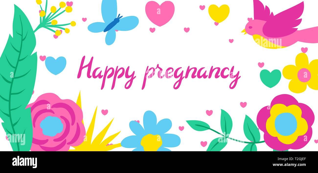 Embarazo Feliz Tarjeta Invitación De Baby Shower Fondo Con