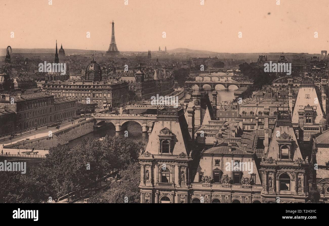 Panorama Vu de l'Église de Saint-Gervais Foto de stock