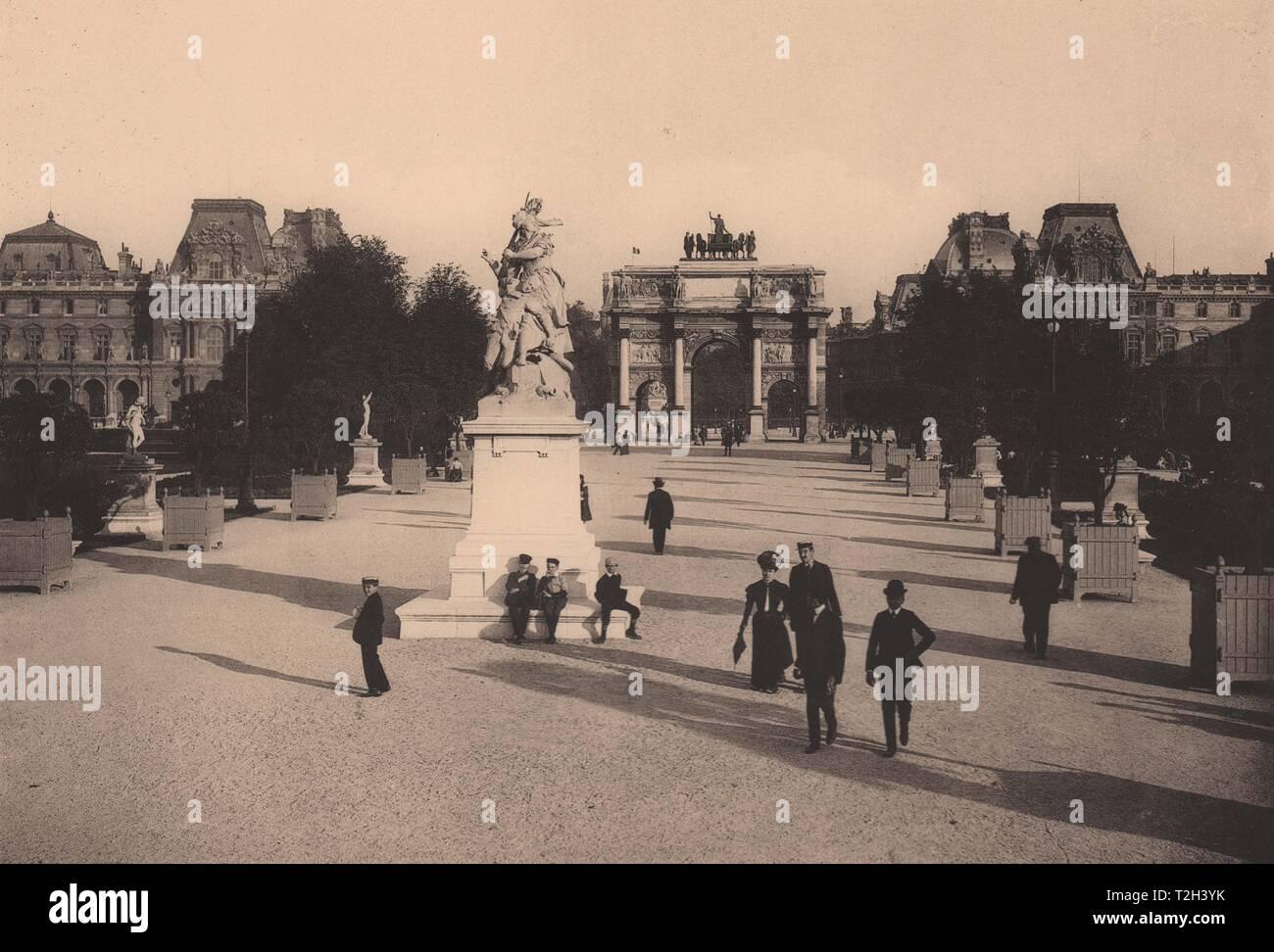 """Jardin des Tuileries - """" Quand Même! """", Par Mercié Foto de stock"""