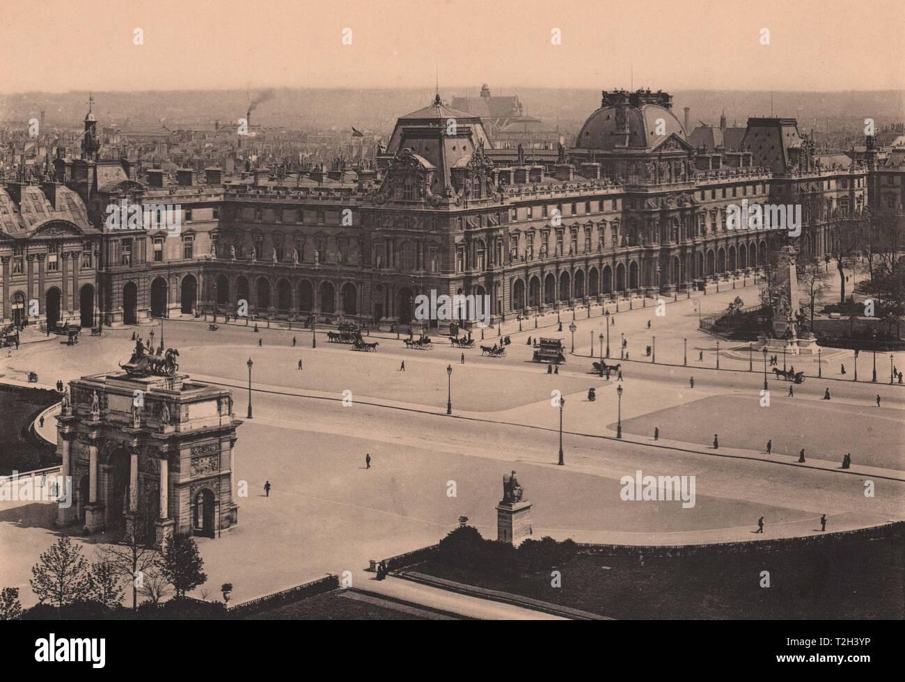 Le Nouveau Louvre Foto de stock