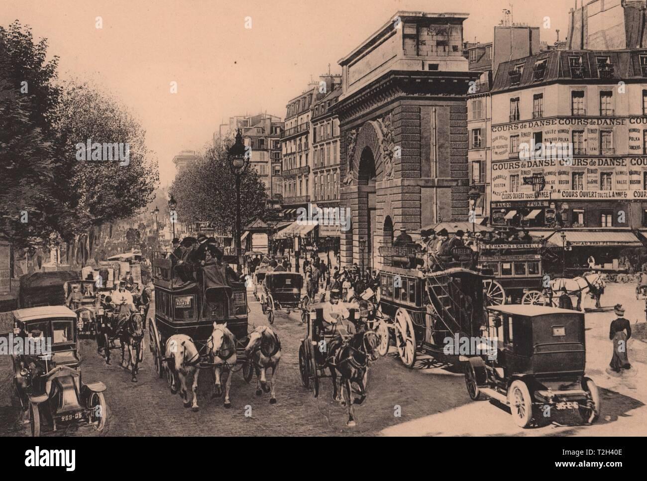 La Porte Saint-Martin Foto de stock
