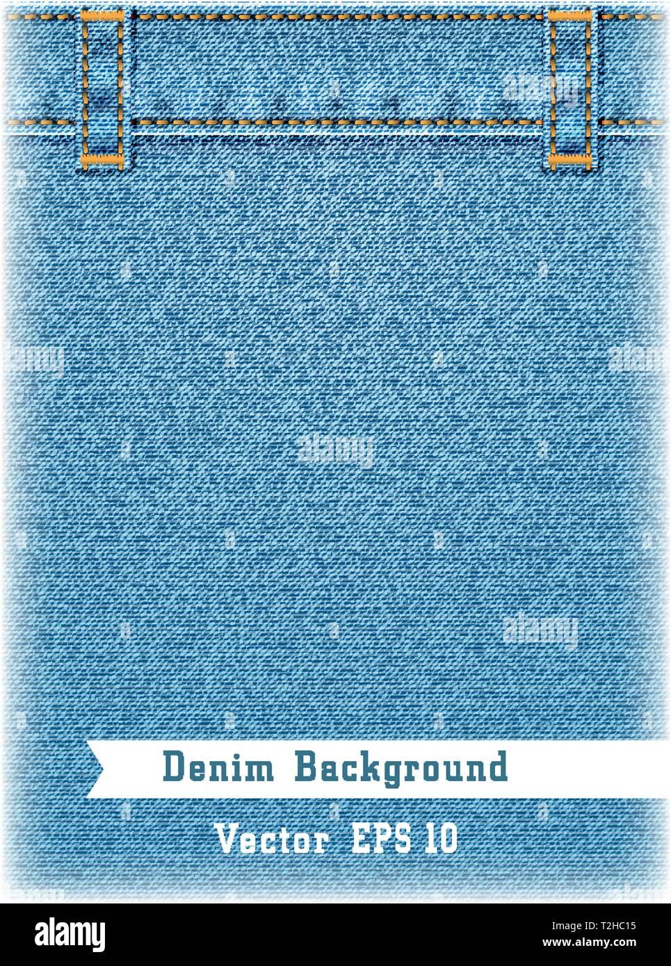 b76452982 Blue jeans realista de fondo. Denim jeans textura con correa ...