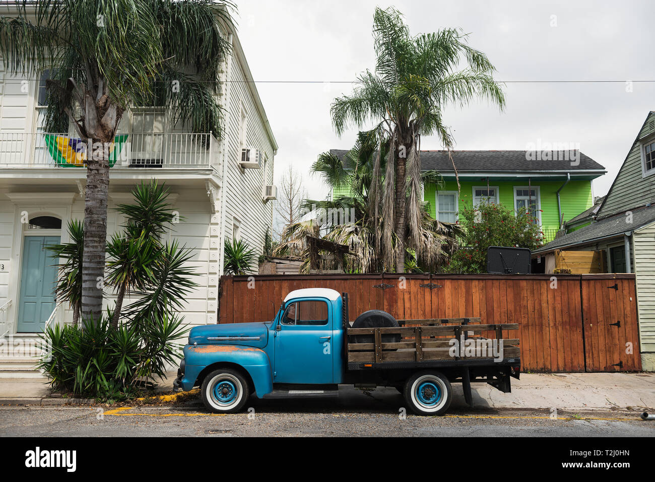 El vecindario de Bywater en Nueva Orleans, Luisiana. Foto de stock