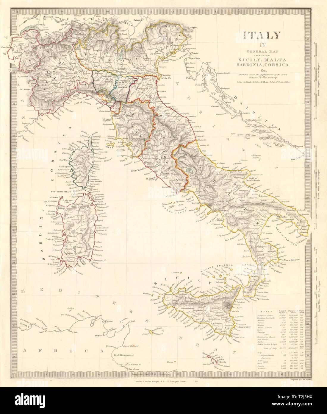 Mapa Corcega Y Cerdeña.Italia Mapa General Sicilia Cerdena Corcega Incluye