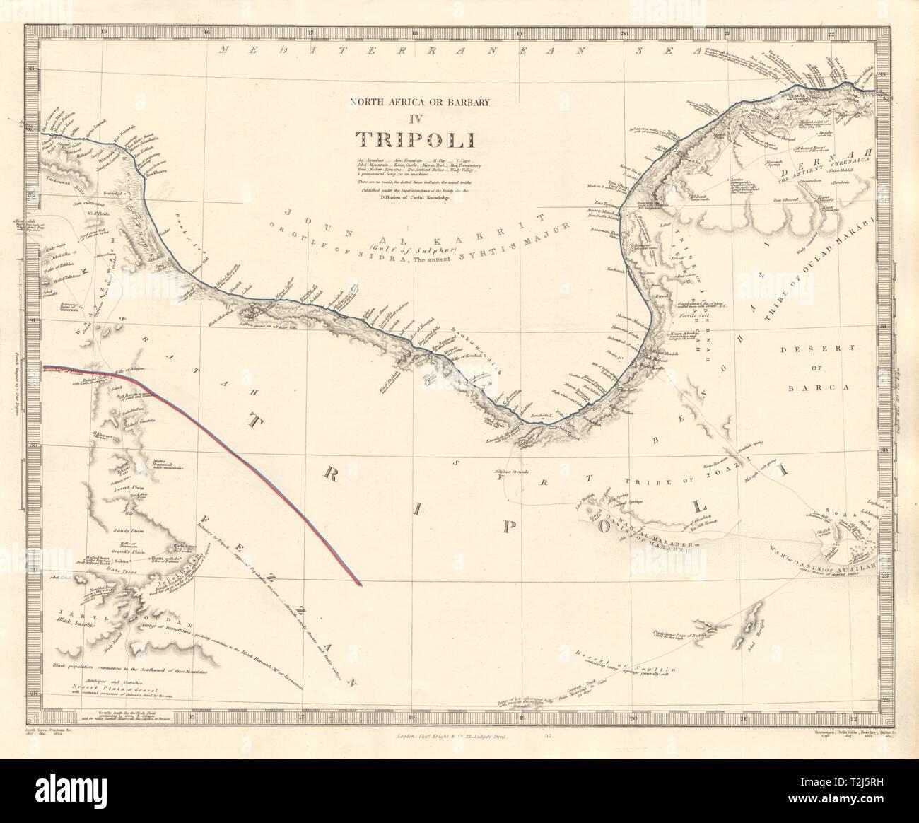Golfo De Sirte Mapa.Africa Del Norte De Babrbary Iv Tripoli Libia Golfo De