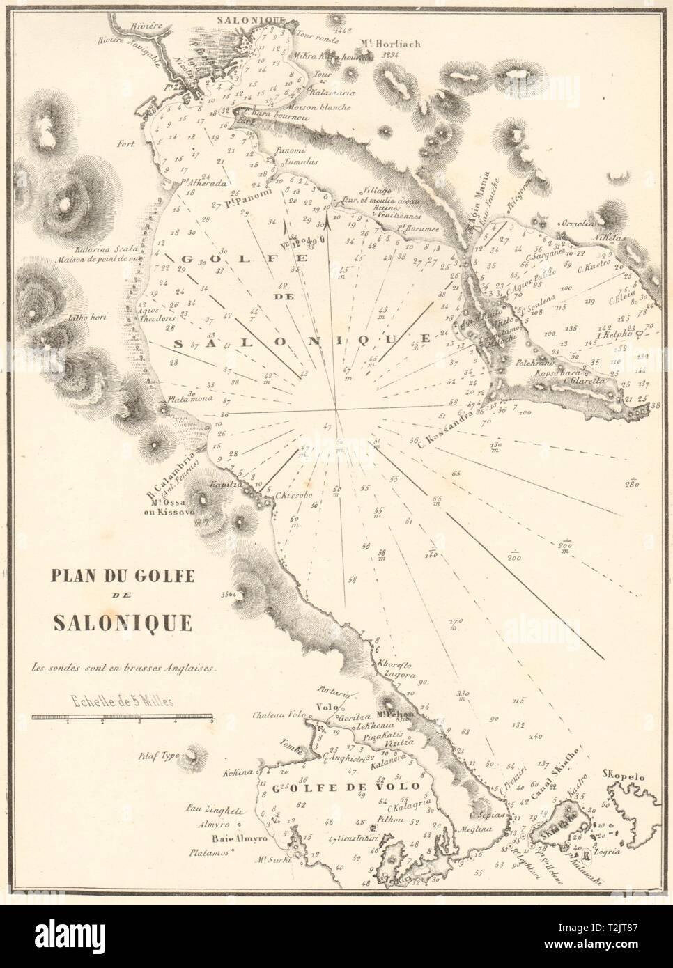 Thermaic Golfo Gofo De Salonique Grecia Salonica 1854