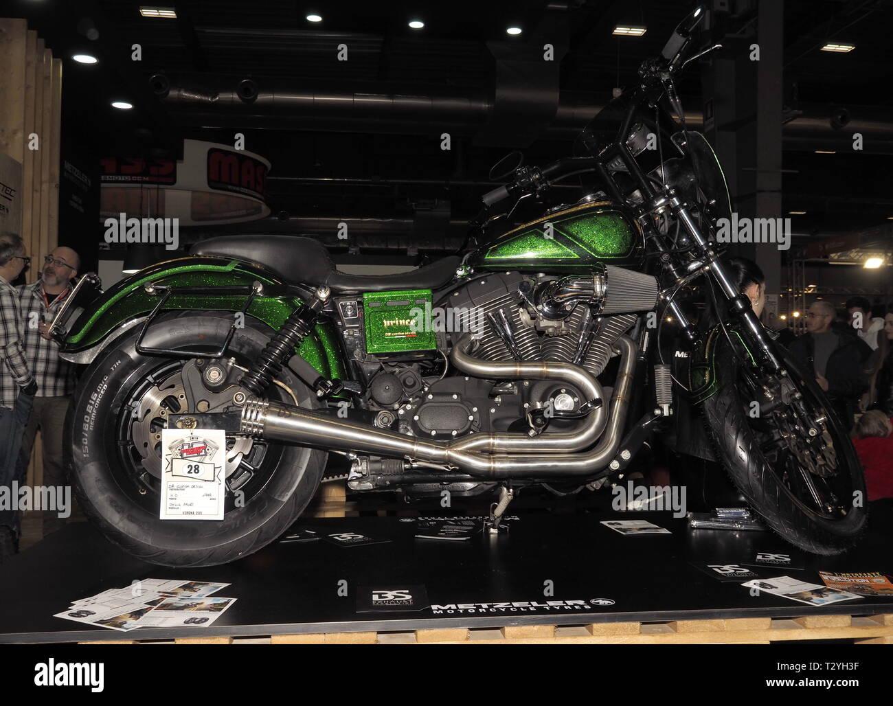 Verona, Italia: 19 de enero de 2019: Motor bike expo Verona 2019 Imagen De Stock