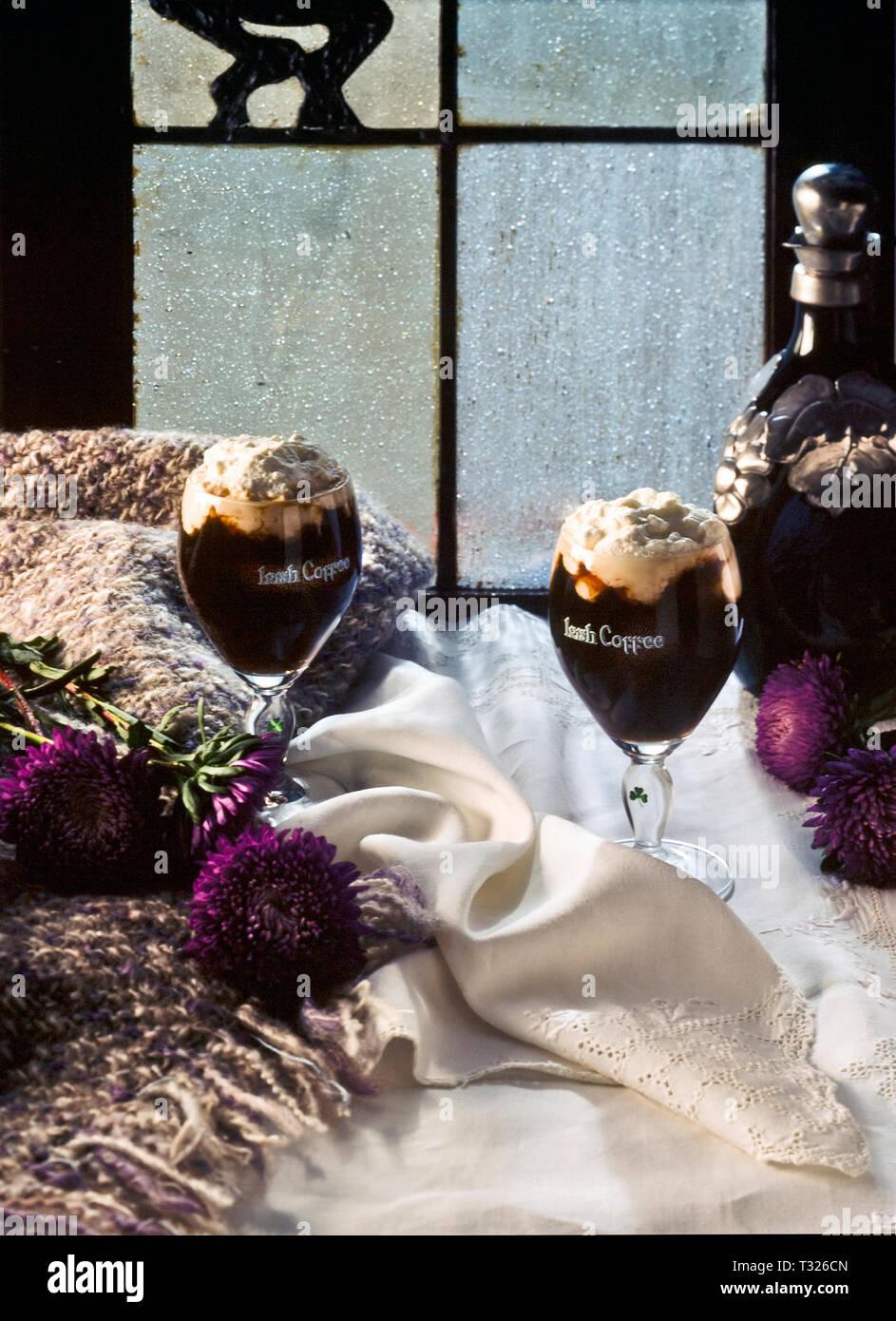 Café bar irlandés Foto de stock